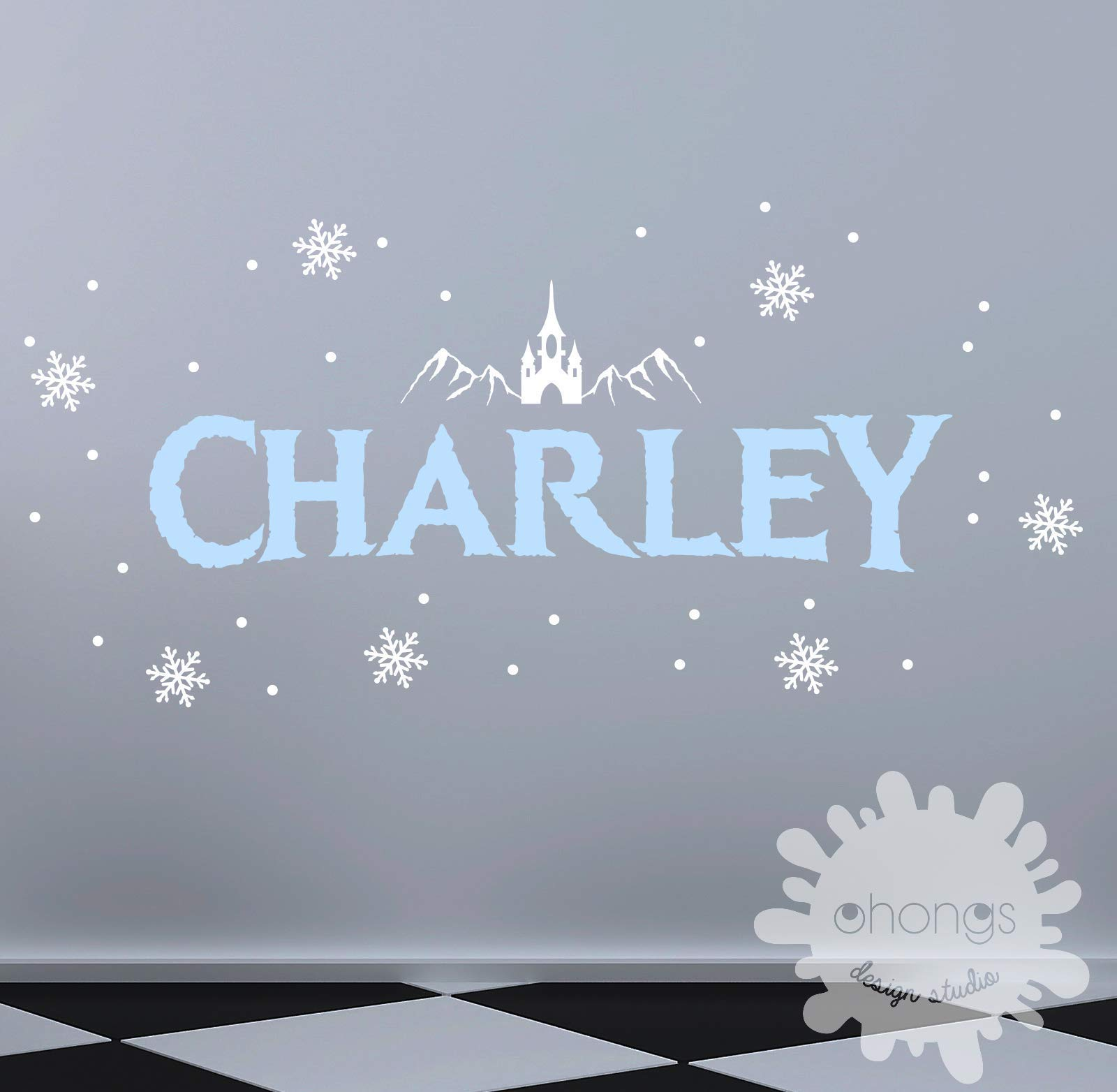 Frozen style custom name/Name Wall Decal/Nursery decal/Personalized Sticker/Baby Name Decal/Girls room/gift/winter/let it go
