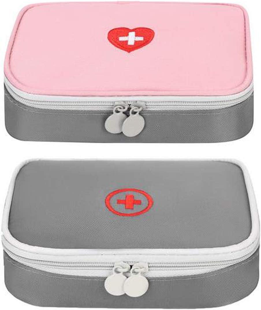 Zuzer Botiquín de Primeros Auxilios, 2PCS Bolsa Médica Vacio Bolso de Primeros Auxilios Bolsa de Medicinas para Coche Camping Viajes