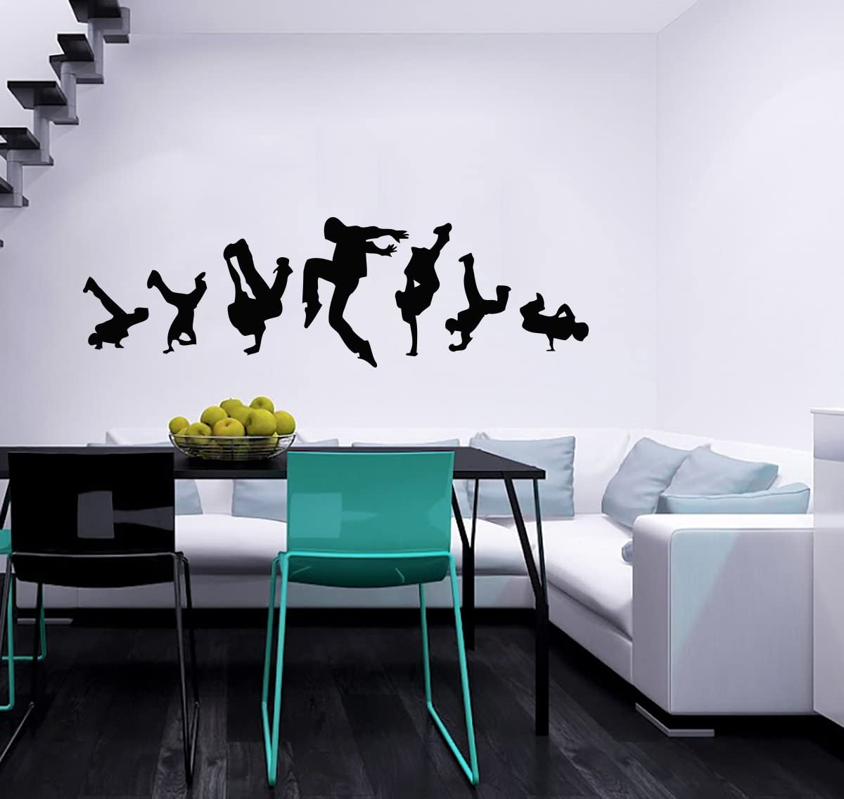 Guys Dancing Break Dance Wall Vinyl Decals Sticker Home Interior Decor For Any Room Housewares Mural Design Graphic Bedroom Music Dance Studio Wall Decal 5504 Amazon Com