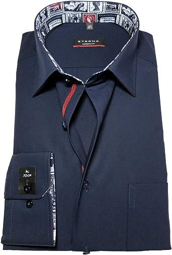 eterna Modern Fit - Camisa de manga larga (tallas 38 a 48, 72 cm), color azul oscuro