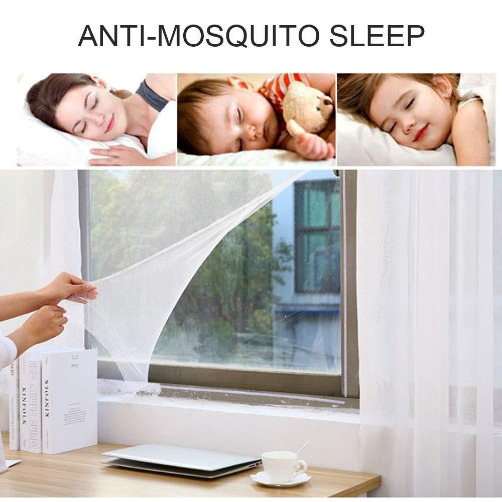 mosquitera para malla de ventana Mosca mosca insecto mosquito protector con cintas autoadhesivas blanco Kitchen-dream Mosquitera mosquitera mosquitera mosquitera de ventana de 5 piezas