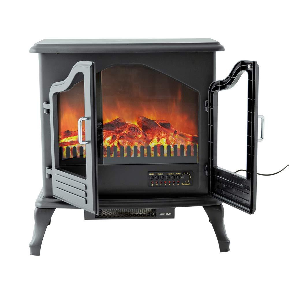 Amazon.com: FLAME&SHADE - Estufa eléctrica para chimenea de ...