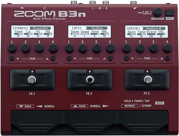 Zoom B3 N/IF Pedalera multiefectos: Amazon.es: Instrumentos musicales