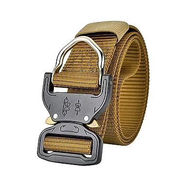 TAAMBAB Hombres Táctico Cinturón Cinturones Del Ejército Con ...