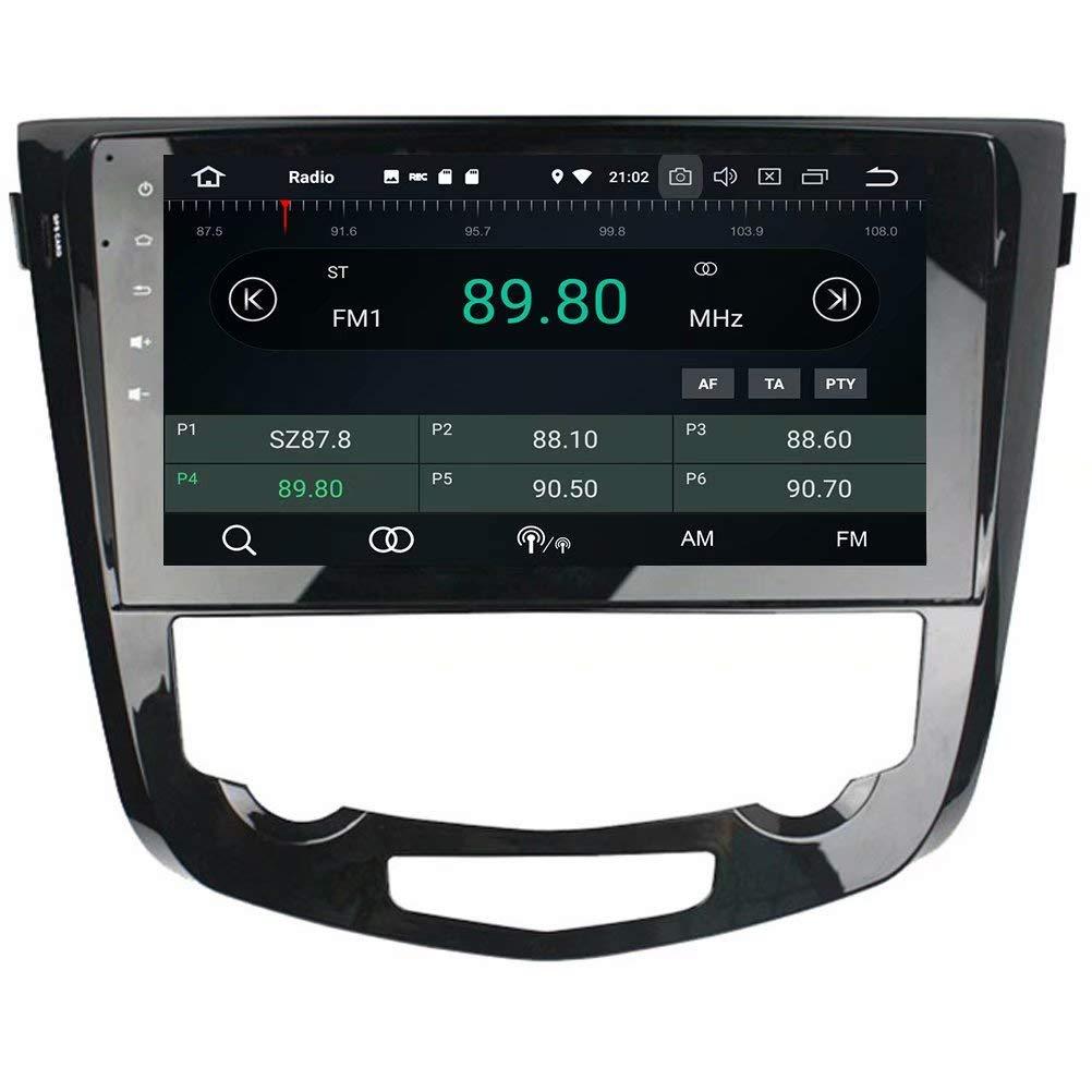 ROADYAKO Unidad Principal para Nissan Qashqai AT 2013 2014 2015 2016 Android 8.1 Radio estéreo para Auto con navegación GPS 3G WiFi Enlace de Espejo RDS FM ...