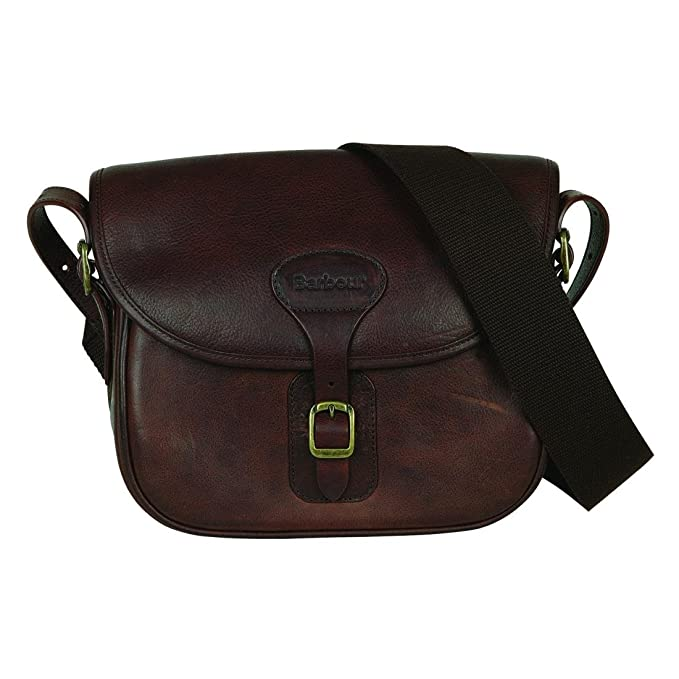 Barbour Leather Cartridge Bag Brown  Amazon.co.uk  Clothing