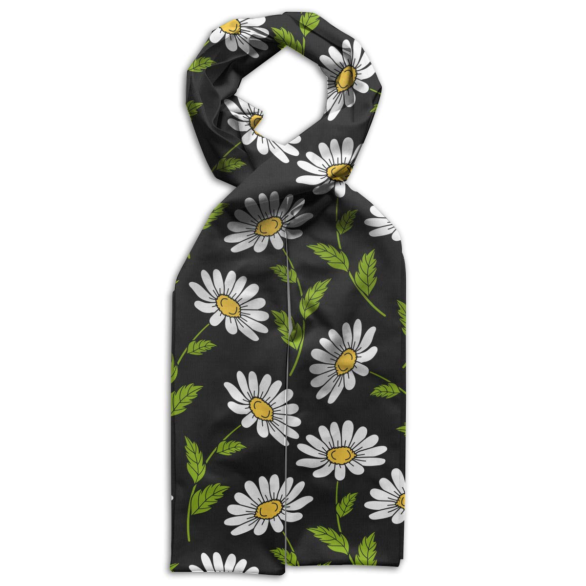 GQOP Kids Scarf Daisy Flower Lightweight Long Scarf Shawl Warps