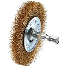 Vermont American 16790 2-1/2-Inch Fine Brass Wire Wheel Brush with 1/4-Inch Hex Shank for Drill