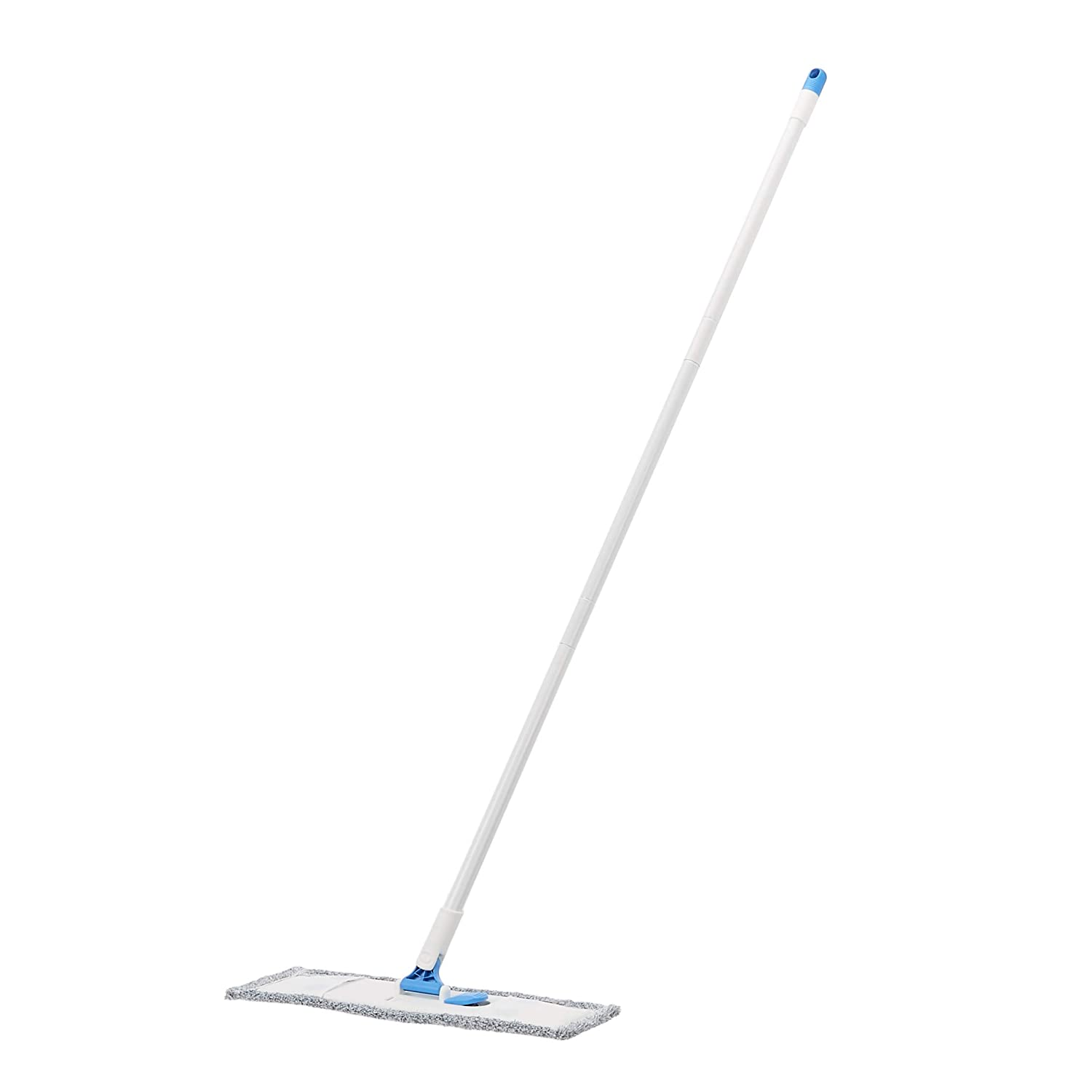 AmazonBasics Dust Mop Sweeper, Washable Cloth, Blue and White