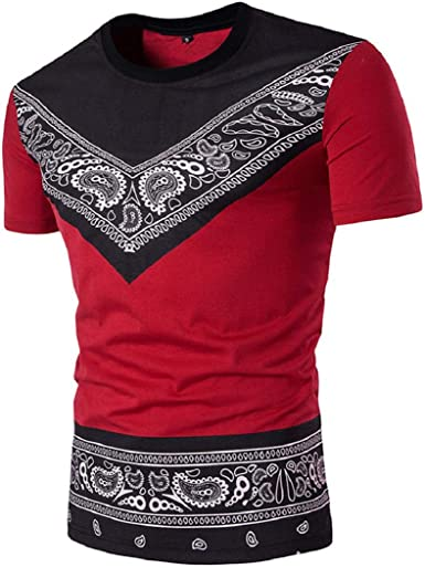 GreatFun Camisa de hombre Verano Casual impresión Africana suéter Manga Corta poliéster Camiseta Cuello Redondo Top Blusa Moda Deporte Slim Fit Delgada Formal: Amazon.es: Ropa y accesorios