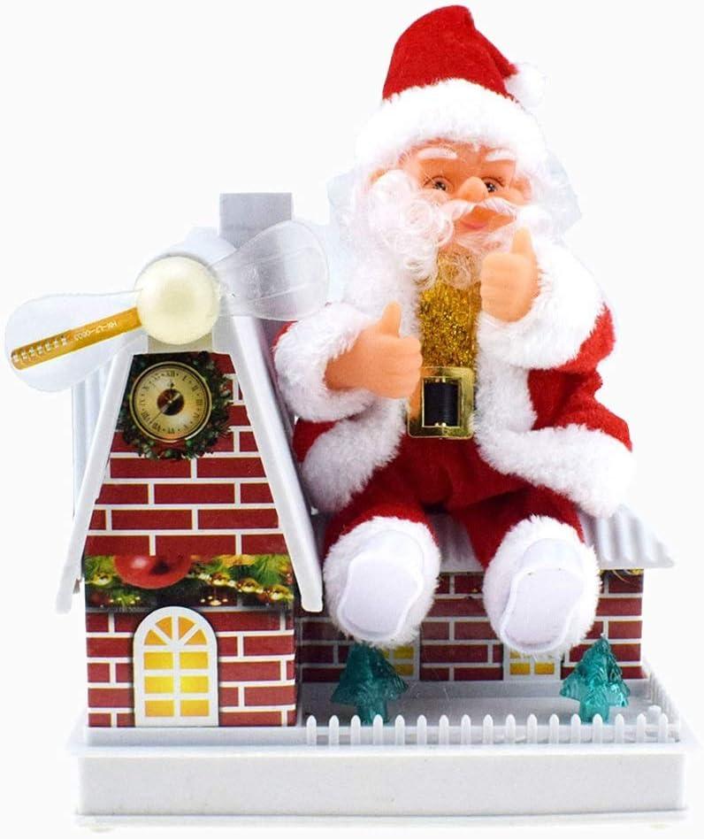 WYDM Decoración de Navidad de Santa Claus eléctricos Sing Decoración Juguetes con Agua fría luz Figurita-muñeca de la Felpa Figurita for decoración del pa: Amazon.es: Hogar