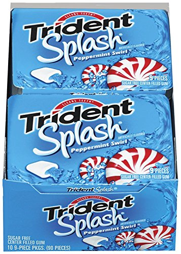 Trident Splash Sugar Free Gum (Peppermint Swirl, 9-Piece, ()