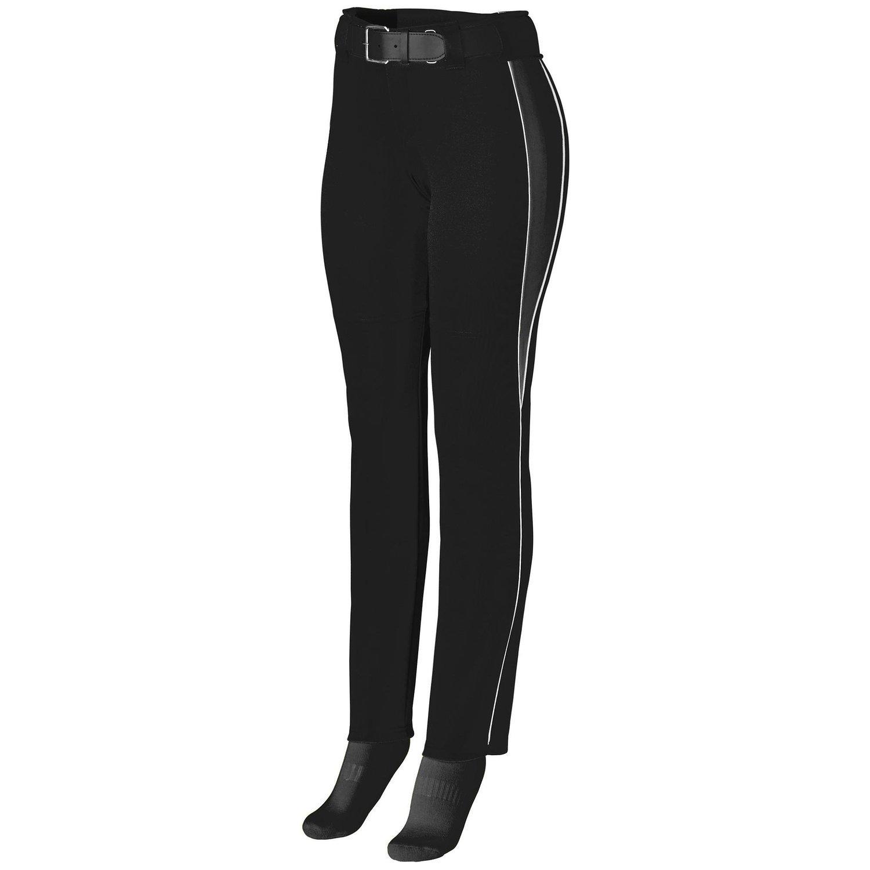 Augusta Sportswearレディースソフトボール外野パンツ B00P53XKI6 Small|ブラック/ブラック/ホワイト ブラック/ブラック/ホワイト Small