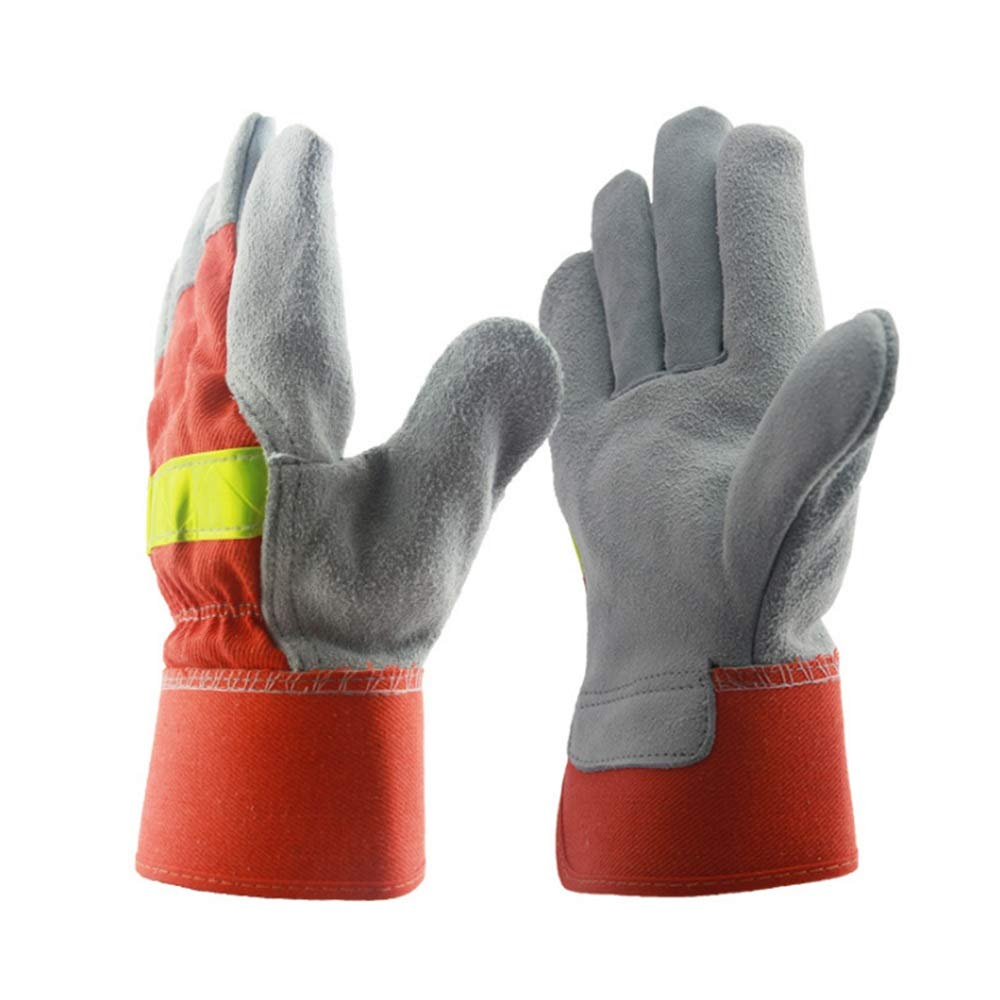 Shan water mouth Winter Climbing Cut-Proof Safety Gloves Welding Gloves, Two-Layer Leather Welding Gloves, Leather Anti-Cut Gloves, High-Temperature Resistant Gloves by Shan water mouth (Image #1)