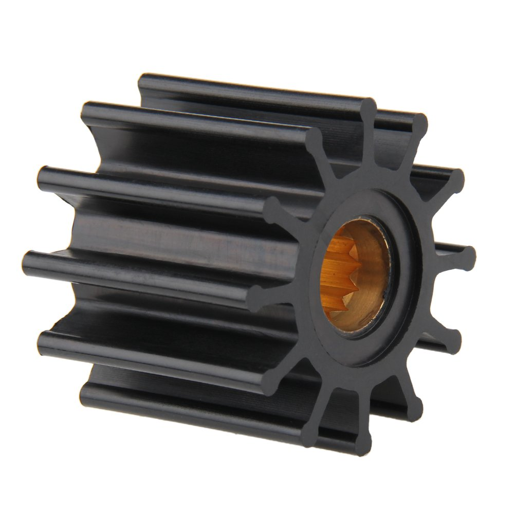 Black For Johnson 09-812B-1 Sierra Indmar Bang4buck 2 Pack Johnson Water Pump Impeller 09-812B-1 Neoprene 2.25 Diameter 1.9m Width K12 Blades