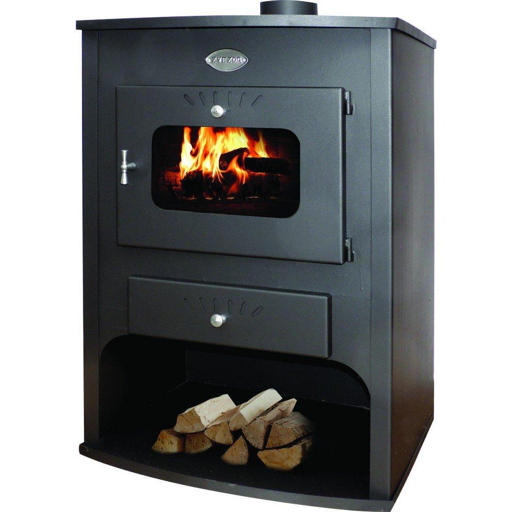 Caldera de leña estufa zvezda, Modelo Maxi VR 16, salida de calor 32 kW: Amazon.es: Bricolaje y herramientas