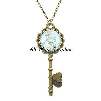 Amazon Charming Key Necklace Philippine Islands Map Key Classy Dream Catcher Necklace Philippines