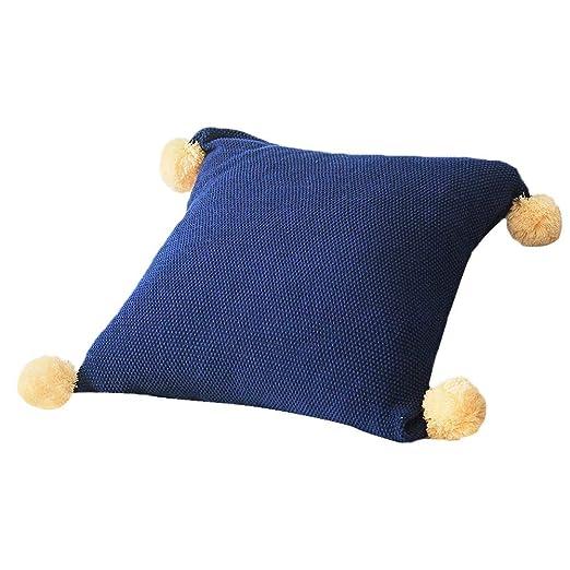 Blue-Yan Funda de cojín de Punto de algodón con Forma de ...