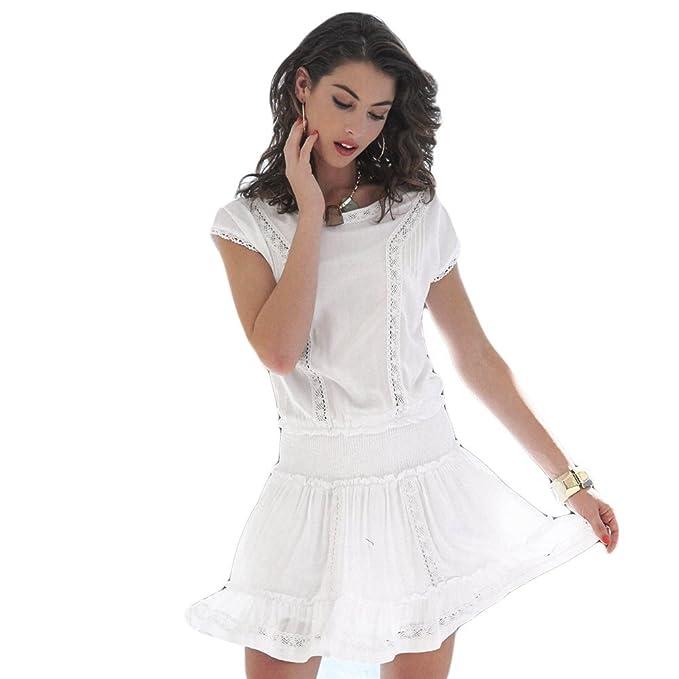 YSABEL MORA - Vestido IBICENCO Mujer Color: Blanco Talla: S