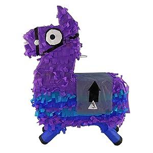 LYTIO Loot Llama Purple Pinata Perfect for Decorations, Gaming Themed Parties, Kids Birthdays, Photo Prop, Mexican Piñata Game