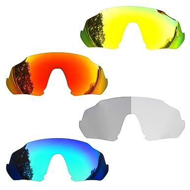 SOODASE Para Oakley Flight Jacket Gafas de sol Rojo/Azul/Dorado ...