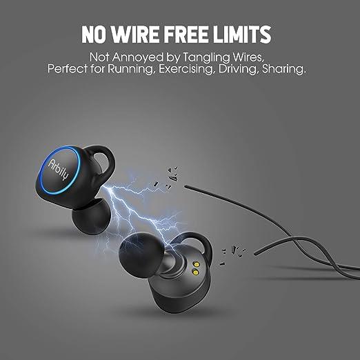 Auriculares Bluetooth V4.1 Arbily Inalámbrico Stereo Headphone in Ear Reducción de Ruido Auriculares Sweat Resistant con microfono para iOS, Android, iPad, ...