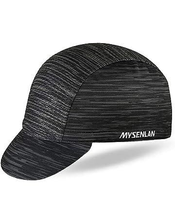 bce802717bd31 Mysenlan Men s Outdoors Sports Cycling Cap Bike Skull Breathable Sun Caps  Riding Hat for Men Black