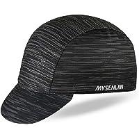 Mysenlan Men's Outdoors Sports Cycling Cap Bike Breathable Sun Caps Riding Hat for Men Black