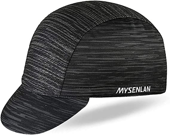 Mysenlan Men's Outdoors Sports Cycling Cap Bike Skull Breathable Sun Caps Riding Hat for Men Black, Medium