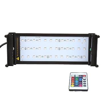 Docooler Regulable Multimodo Lámpara Acuario RGBW Luz del Acuario con Mando la Lámpara Pecera Soporte Extensible: Amazon.es: Deportes y aire libre