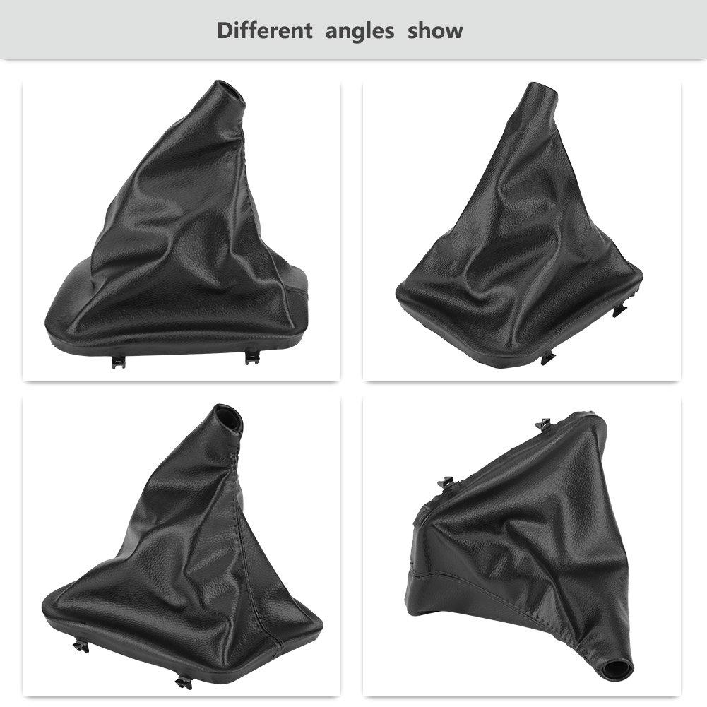Manual//Auto Gear Shift Knob Boot Car Gear Shifter Gaiter Dust Boot Cover Replacement for BMW E30 E34 E36 E46 Z3 Keenso
