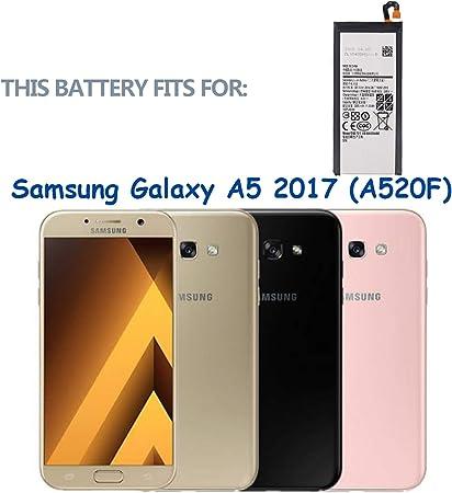 swark batería EB-BA520ABE para Samsung Galaxy A5 2017 (A520F) con ...