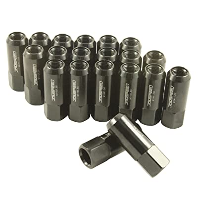 JDMSPEED New Black 20PCS 14X1.5MM 60MM Extended Forged Aluminum Tuner Racing Lug Nut: Industrial & Scientific