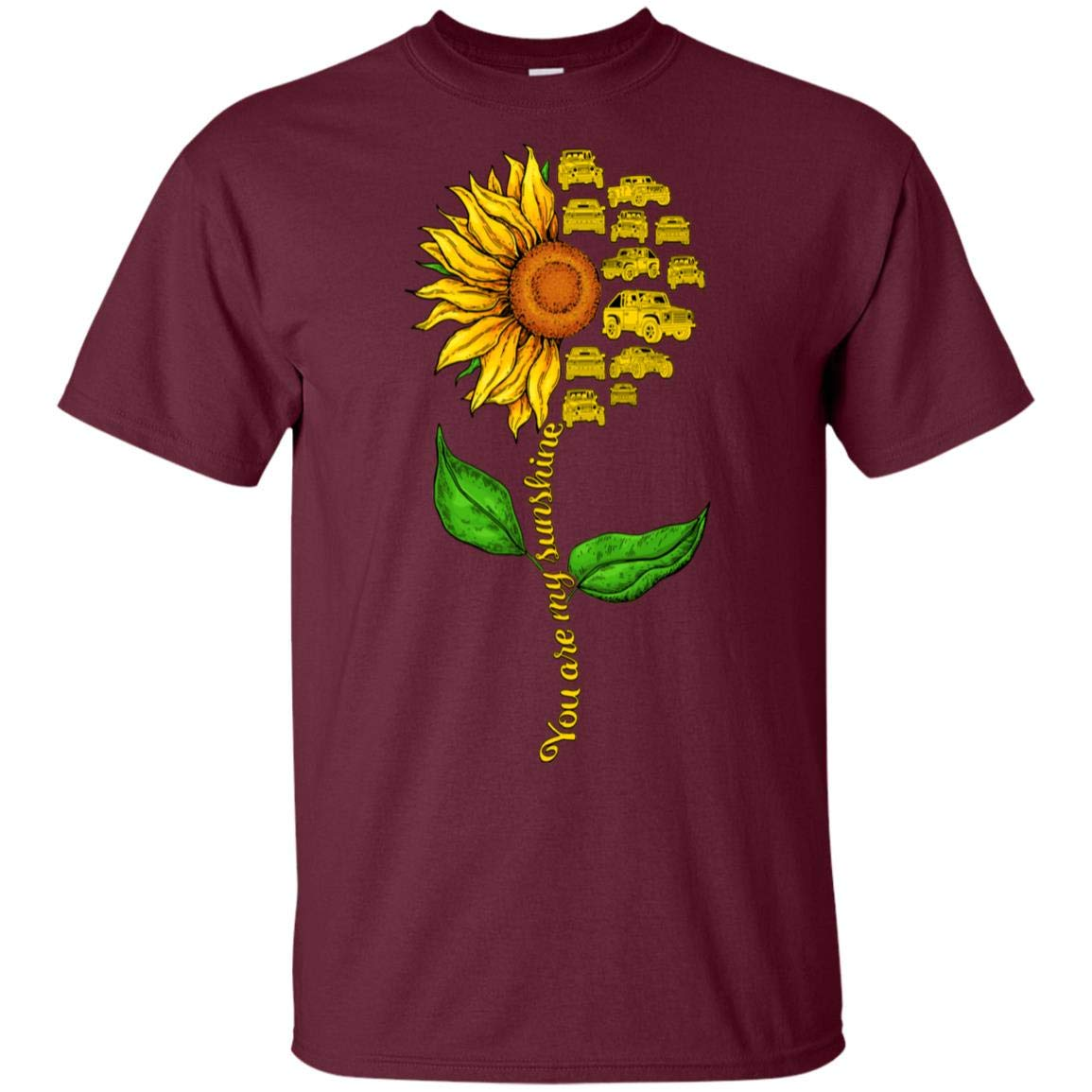 You Are My Sunshine Jeep Sunflower T Shirt