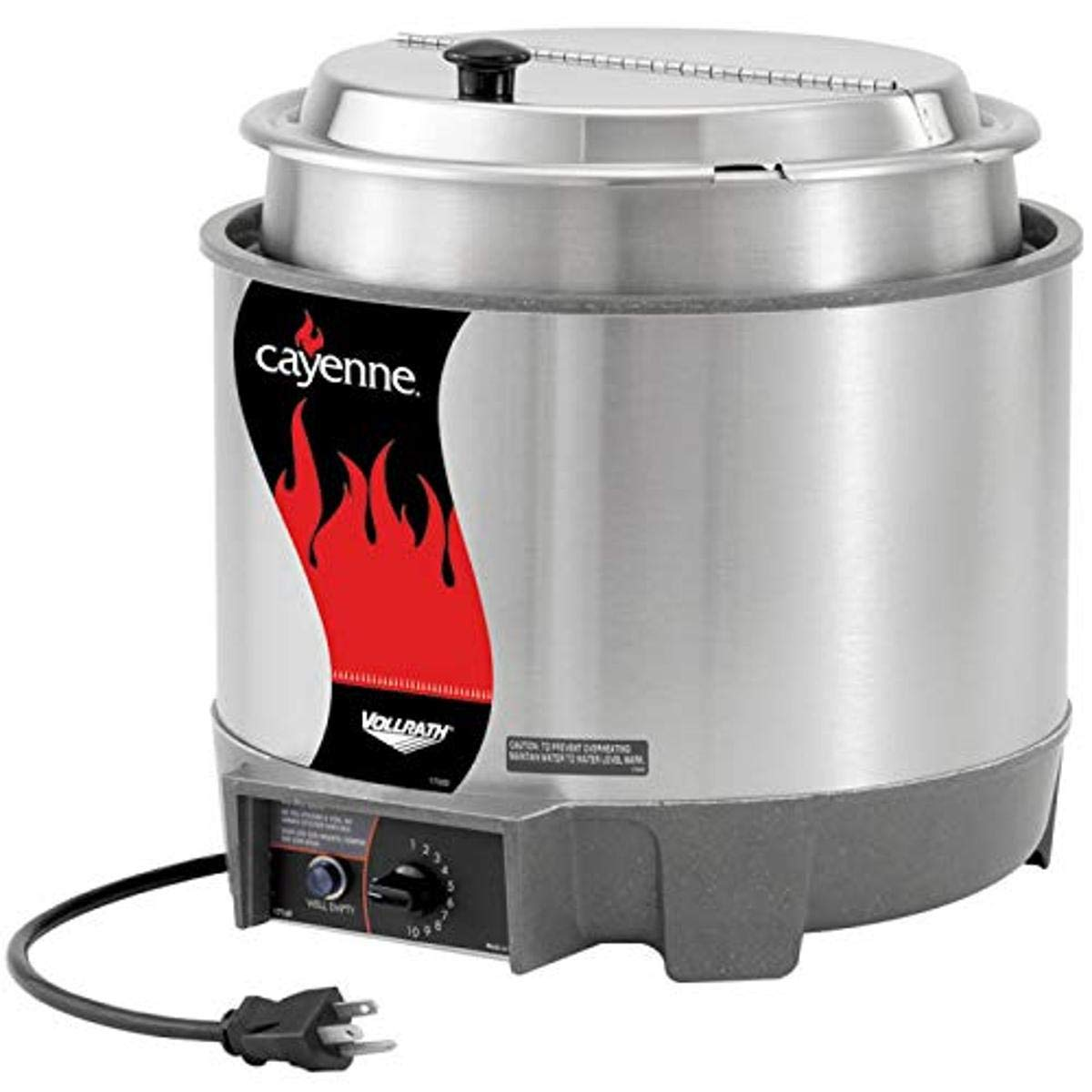 Vollrath 72009 Cayenne 11-Quart Round Heat 'N Serve Rethermalizer (w/Inset and Cover), 120-Volts, NSF