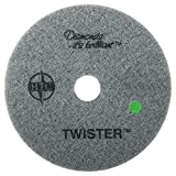 Americo Manufacturing 435520 Twister Green 3000 Grit Floor Pad for Step 3 Polishing and Daily Maintenance (2 Pack), 20''