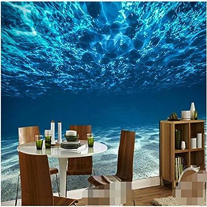 200cmX140cm Deep Sea Custom Photo Wallpaper Ocean Scenery Large Mural Bedroom Kids Room Background For