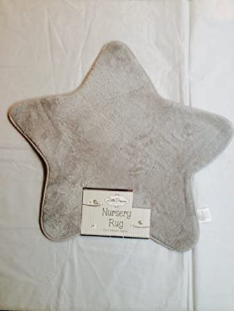 rug on carpet nursery. New Little Dreams Baby Supersoft Fluffy Star Shaped Nursery Rug Carpet Grey 70cm On G