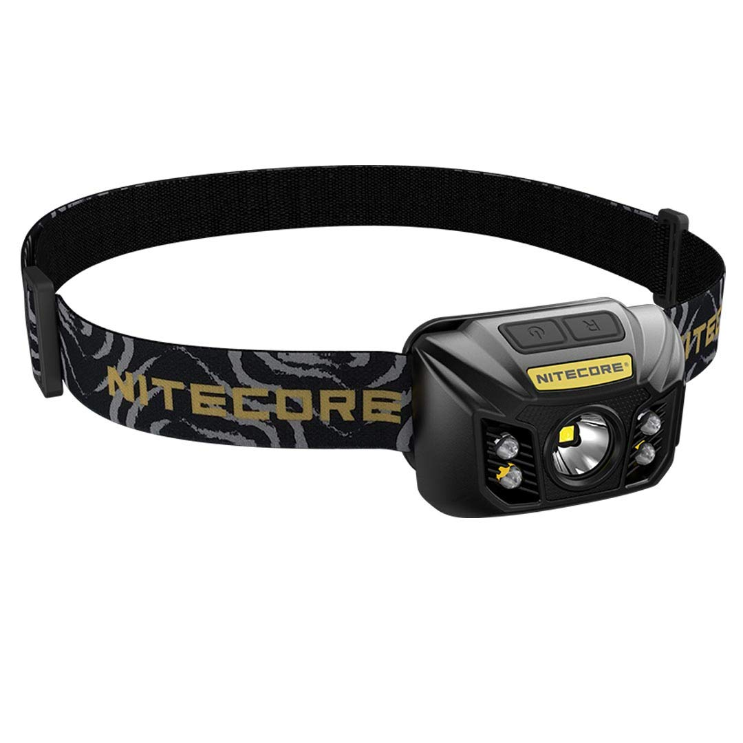 Nitecore NU32 550 Lumen LED Rechargeable Headlamp with White and Red Beams, Black by Nitecore