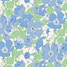 Walk In the Park~30's Fabric~Blue Flowers~ by Maywood Studio Cotton