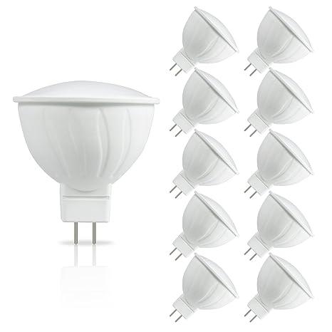 JandCase Bombillas LED MR16 GU5,3, 5 W Equivalente a 50 W Focos Halógenos