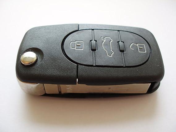3 Boutons Remplacement T/él/écommande Coque Fix pour Audi A2 A3 A4 A6 A8 Tt Q5 Q7