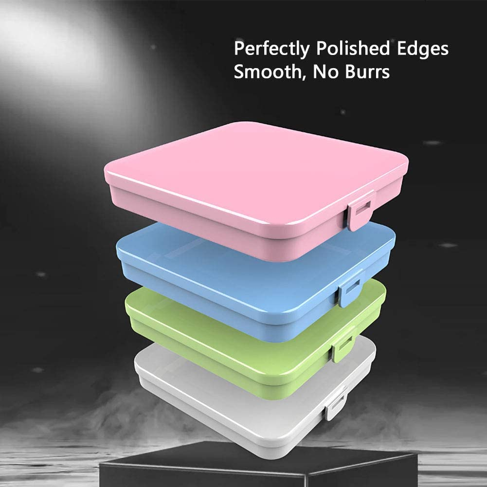 No burrs Thick Mask Case Holder for Reusable and Disposable Masks Portable Mask Container Perfectly Polished Mask Storage Case Food-Grade Plastic Mask Case