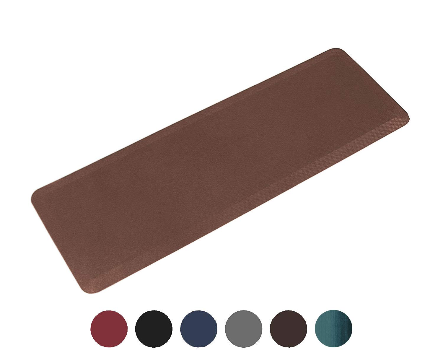 Oasis Long Kitchen Runner Mat, Comfort Anti Fatigue Mat, 5 Colors and 3 Sizes, Perfect for Kitchens and Standing Desks, 24x70x3/4-Inch, Dark Brown