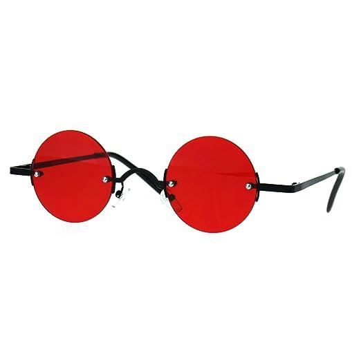 d48570d8ec4 Amazon.com  Small Round Circle Rimless Sunglasses Wide Frame Narrow ...