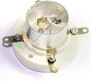 Cary 1pc 4pin Ceramic Vacuum Tube Socket Valve Base for Fu5 845 211 805 U4j Audio Amp