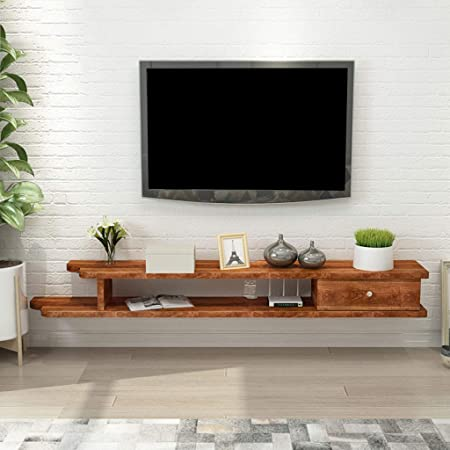 Jsmhh Cornisa TV Rack Entretenimiento Gabinete Flotante Estante de exhibición de Almacenamiento Unidad de DVD Consola en Bastidor Rack Caja de Cable de Montaje en Pared Estante: Amazon.es: Hogar