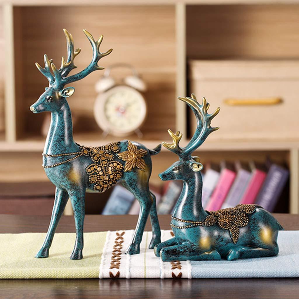Suitable for Home Art Deco Sturdy Vintage Elegance Pub Ornaments Living Room KNDJSPR Antler Wine Rack Gift Giving Resin Craft Brown 3D Effect