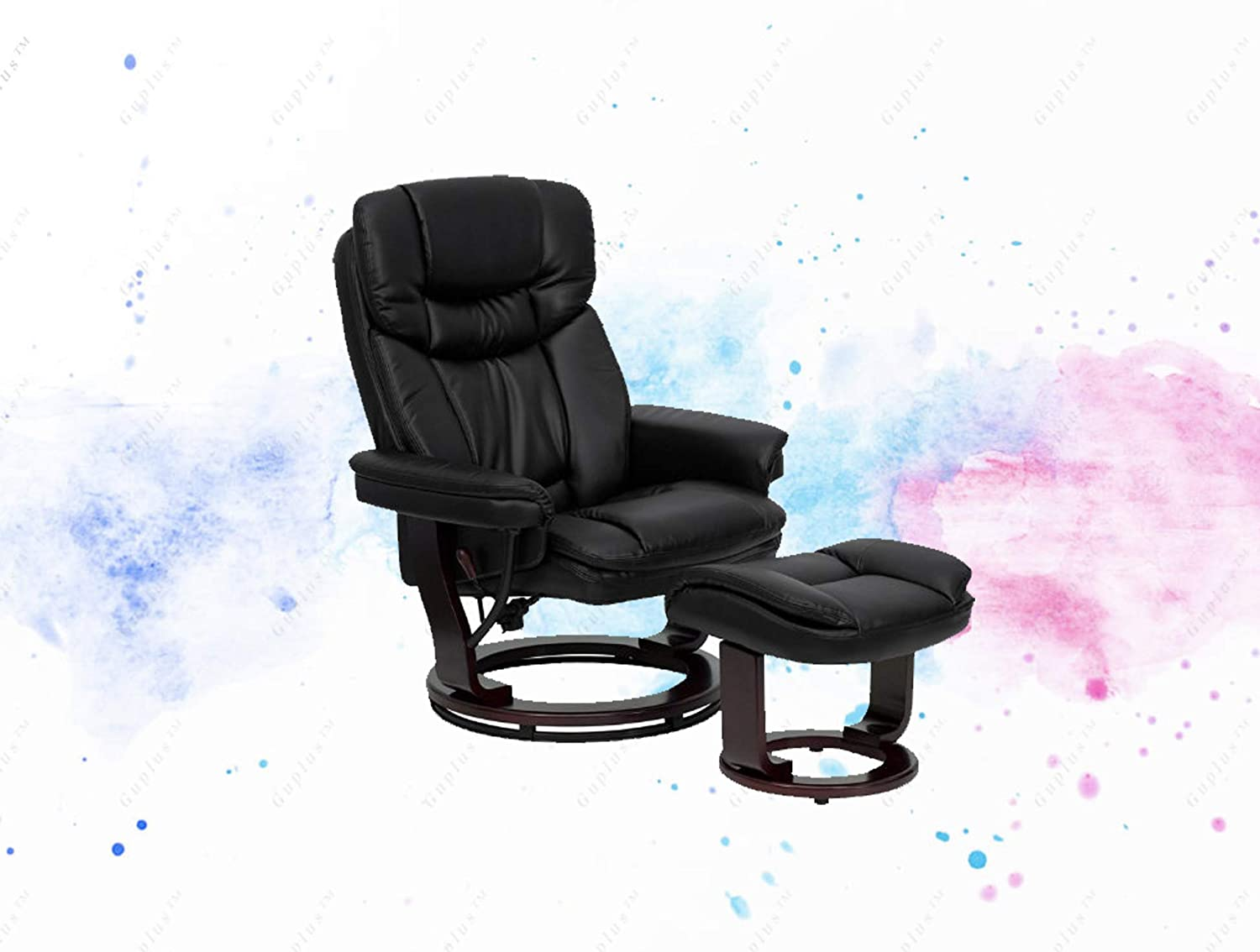 Superb Amazon Com Guplus Contemporary Black Leather Recliner And Uwap Interior Chair Design Uwaporg