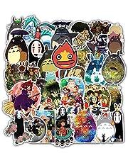 PRXD 50 stuks My Neighbor Totoro Sticker Pack, Graffiti Sticker Decals Vinyls voor Laptop, Kinderen, Tieners, Waterflessen, Skateboard, Bagage, Motorfiets, Bumper, DIY Party Supply Patches Decal